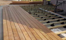 Création d'une terrasse en bois IPE