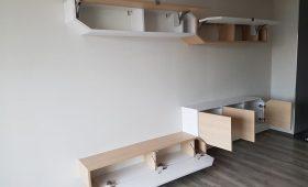 Fabrication et pose d'un ensemble de meuble de salon de style moderne
