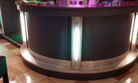 Remise à neuf du bar du bowling au Megarex à Haguenau : après