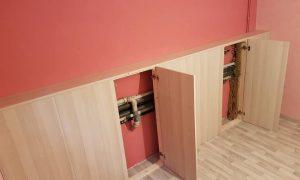 Création d'un cache tuyaux avec portillons d'accès aux robinets