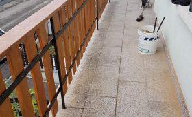 fabrication et pose de balustres de balcon en chêne massif