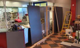 Fabrication et pose d'une cloison au Megarex à Haguenau
