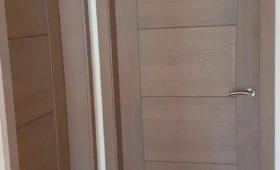 Fabrication et pose de portes chêne massif