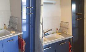 Changement de couleur pour une cuisine et petites modifications d'agencement
